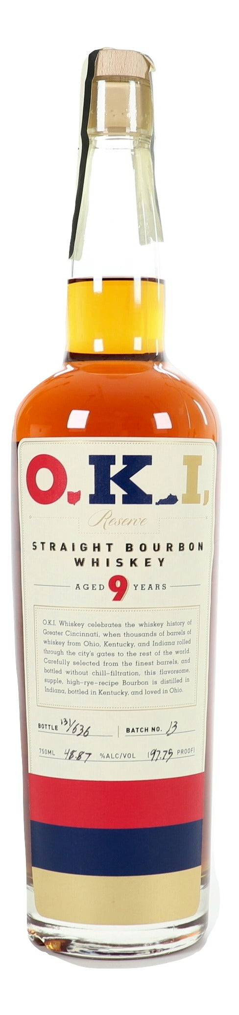 O.K.I. 9 Year Old Straight Bourbon Whiskey For Sale - NativeSpiritsOnline