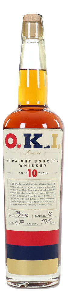 O.K.I. 10 Year Old Straight Bourbon Whiskey Batch 20 For Sale - NativeSpiritsOnline