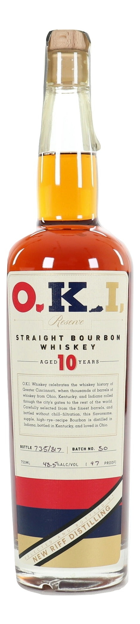 O.K.I. 10 Year Old Straight Bourbon Whiskey Batch 30 For Sale - NativeSpiritsOnline