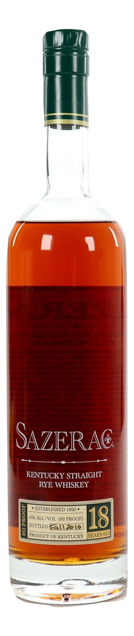 Sazerac 18 Year Old Rye 2010 For Sale - NativeSpiritsOnline