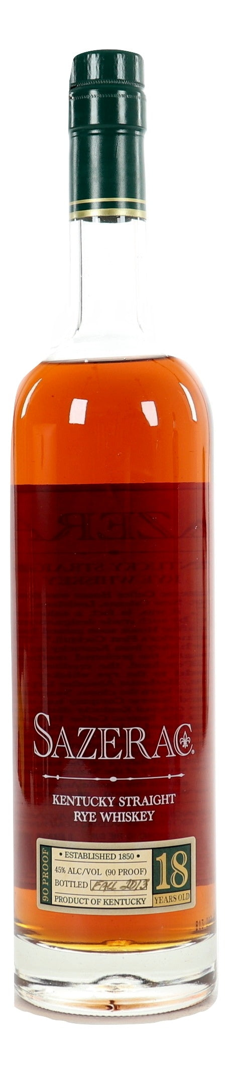 Sazerac 18 Year Old Rye 2013 For Sale - NativeSpiritsOnline