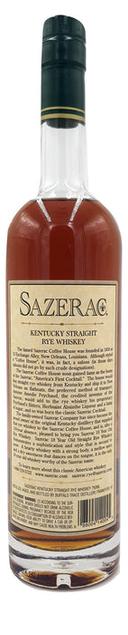 Sazerac 18 Year Old Rye 2007 For Sale - NativeSpiritsOnline