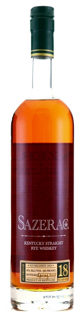 Sazerac 18 Year Old Rye 2014 For Sale - NativeSpiritsOnline