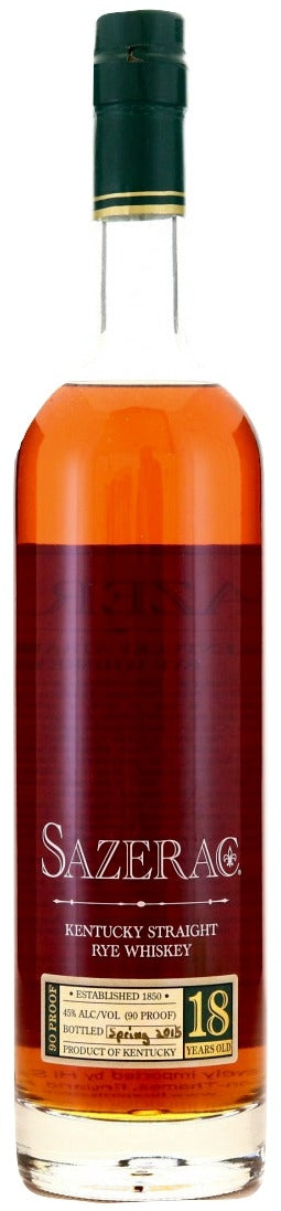 Sazerac 18 Year Old Rye 2015 - NativeSpiritsOnline