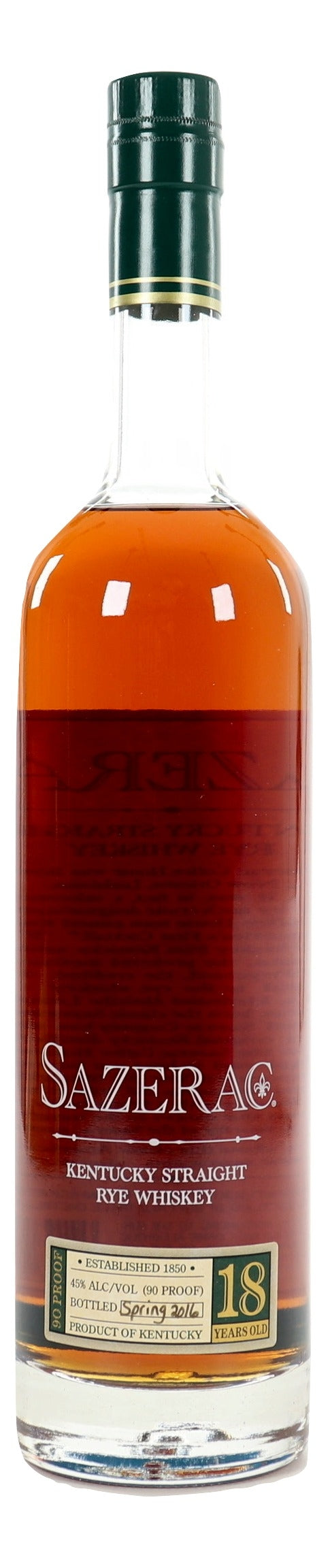 Sazerac 18 Year Old Rye 2016 For Sale - NativeSpiritsOnline
