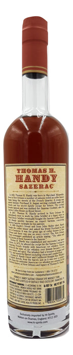 Thomas H. Handy Sazerac 2015 Straight Rye For Sale - NativeSpiritsOnline