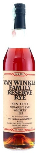 Van Winkle Family Reserve Rye 1985 For Sale - NativeSpiritsOnline
