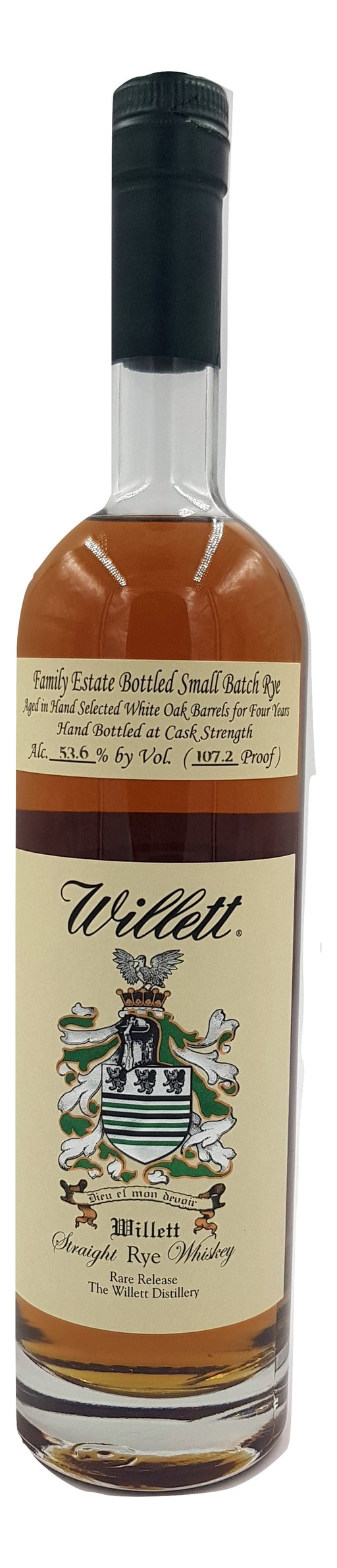 Willett 4 Year Old Family Estate Rye - 107.2 PROOF For Sale - NativeSpiritsOnline