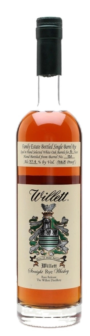 Willett 6 Year Old Family Estate Rye - Barrel 152 For Sale - NativeSpiritsOnline