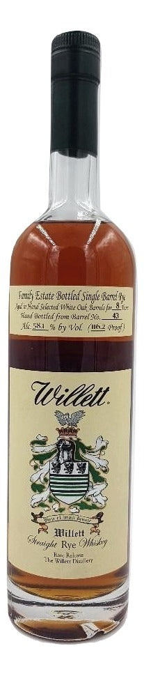 Willett 8 Year Old Family Estate Rye - Barrel 43 For Sale - NativeSpiritsOnline