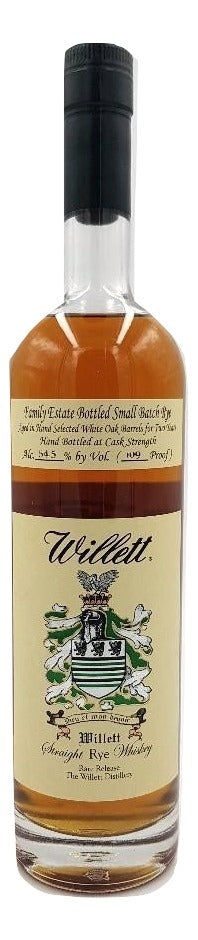 Willett 2 Year Old Family Estate Rye - 109 PROOF For Sale - NativeSpiritsOnline