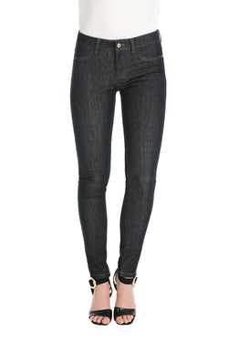 Pantalone jeggins vita alta blue denim scuro, relish fashion moda, abbigliamento femminile