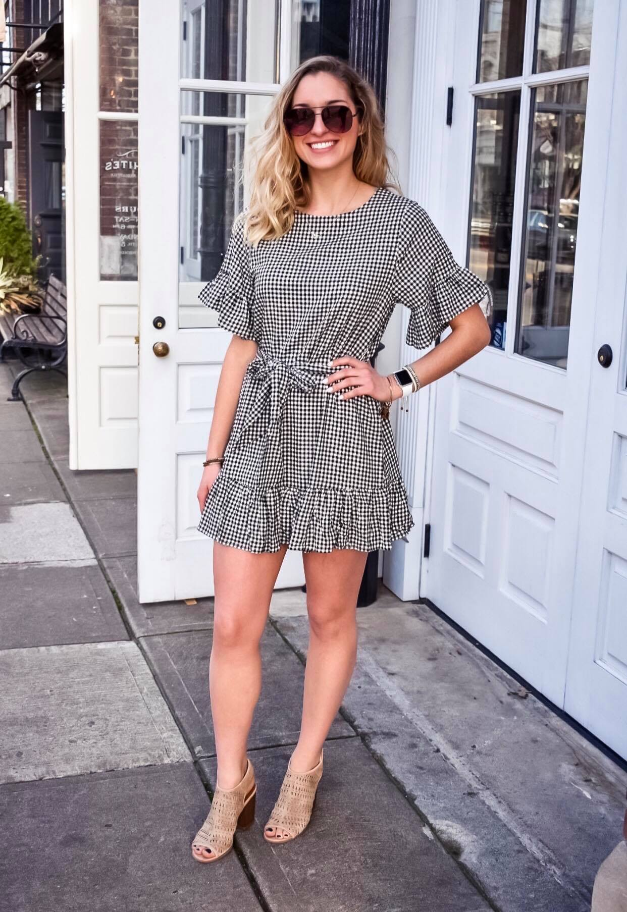 What's Not To Love Gingham Tie Dress
