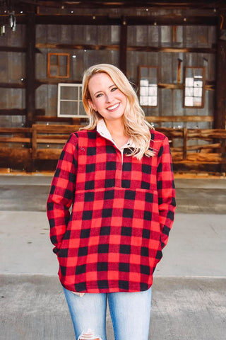 Bonfire Baby Plaid Pullover
