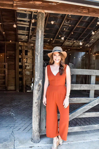 Harvest Honey Jumpsuit in Rust