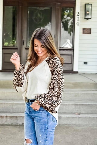 Talk Leopard To Me Knit Top