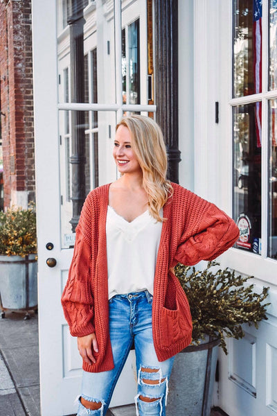Pumpkin Pickin' Weather Knit Cardigan
