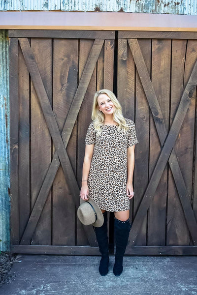 Wild At Heart Leopard Shift Dress