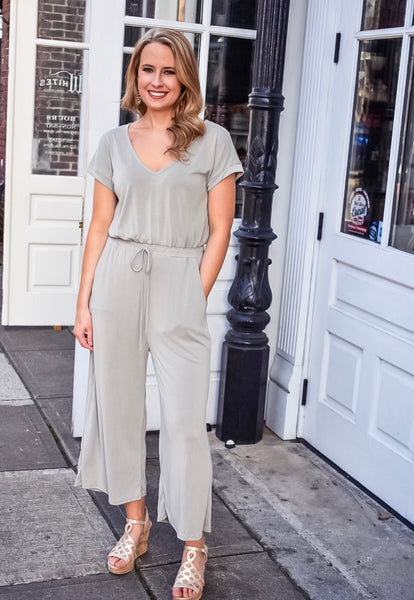 Play All Day Jumpsuit In Sage