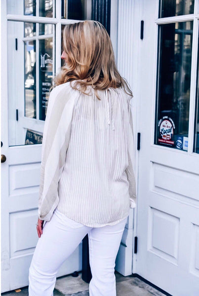 Spring Is In The Air Striped Blouse