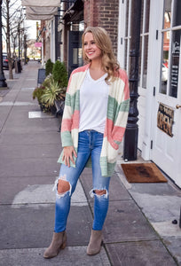 Color My World Striped Cardigan
