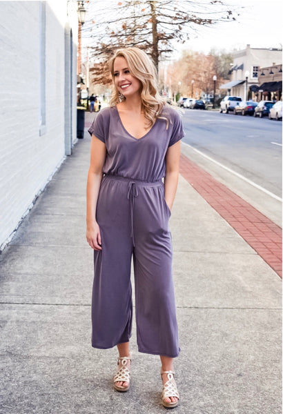 Play All Day Jumpsuit in Plum