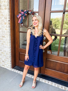 Stars In Your Eyes Navy Dress
