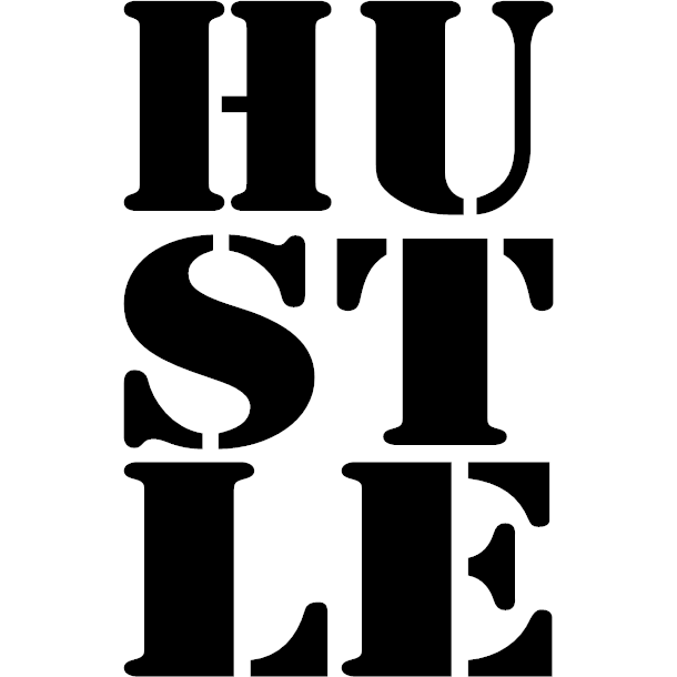 Hustle Decal Style 1 - Stick N Peel Graphics