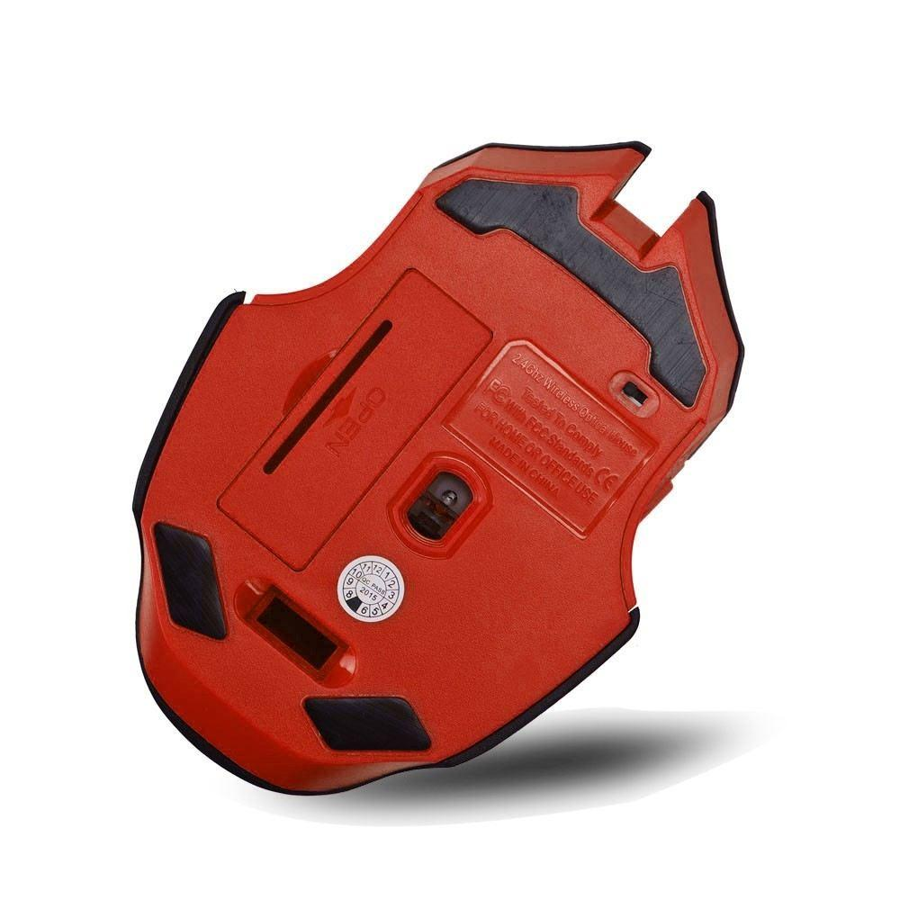 High Quality Wirelss Gaming Mouse(Black Red)