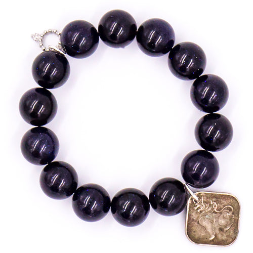 Black onyx with square burmese coin
