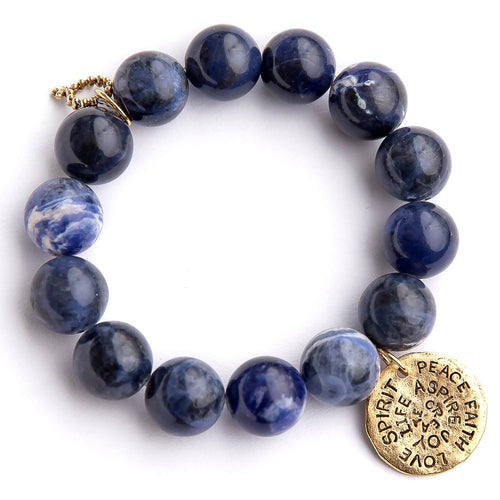 Dumortierite paired with a hammered bronze spirit disc