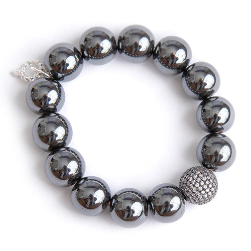 Gunmetal hematite with gunmetal micropave