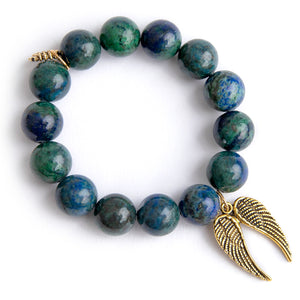 Killarney Jasper paired with double brass angel wings