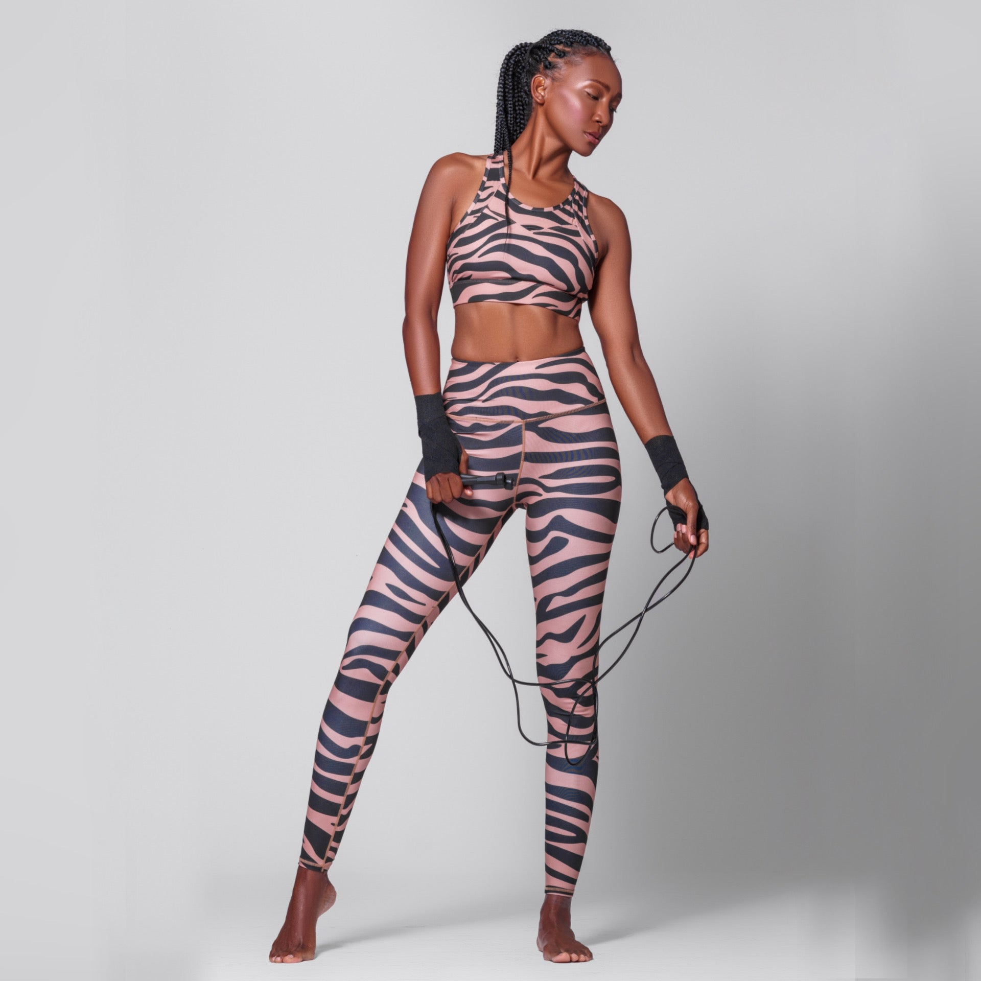 Zebra Stripe Sports Bra