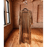 Gold Sequins Duster