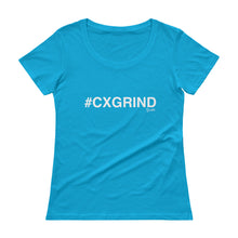 Load image into Gallery viewer, #CXGRIND Ladies' Scoopneck T-Shirt