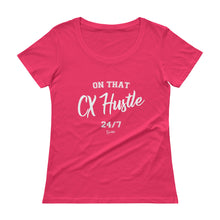 Load image into Gallery viewer, On That CX Hustle - Ladies' Scoopneck T-Shirt