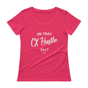 On That CX Hustle - Ladies' Scoopneck T-Shirt