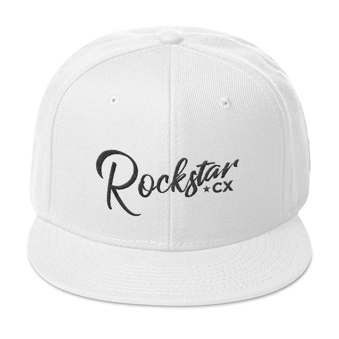 Rockstar CX Black Thread Snapback Hat (Black, White or Red Cap)