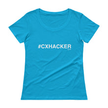 Load image into Gallery viewer, #CXHACKER Ladies' Scoopneck T-Shirt
