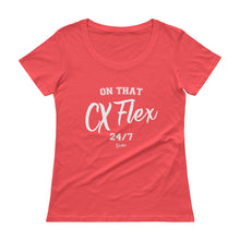 Load image into Gallery viewer, On That CX Flex - Ladies' Scoopneck T-Shirt