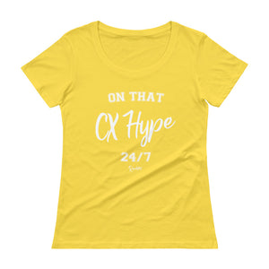 On That CX Hype - Ladies' Scoopneck T-Shirt