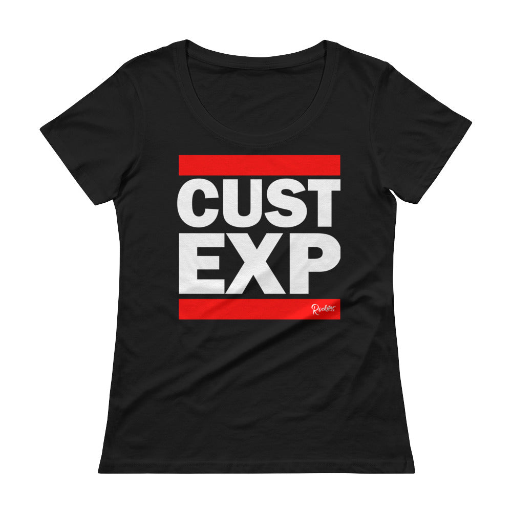 CUST EXP Black - Ladies' Scoopneck T-Shirt