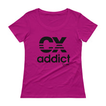 Load image into Gallery viewer, CX Addict Black Print - Ladies' Scoopneck T-Shirt