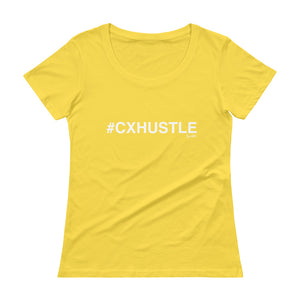 #CXHUSTLE Ladies' Scoopneck T-Shirt