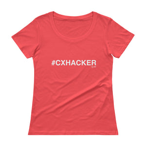 #CXHACKER Ladies' Scoopneck T-Shirt