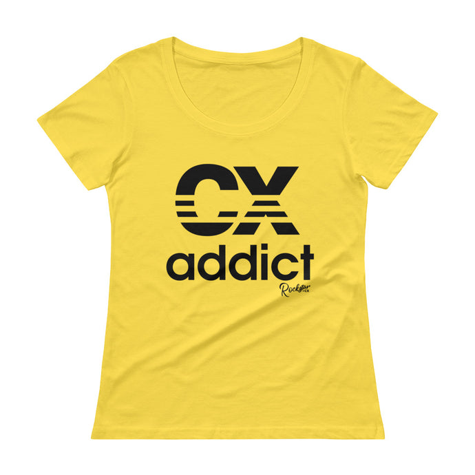CX Addict Black Print - Ladies' Scoopneck T-Shirt