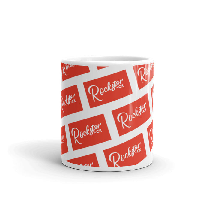 Rockstar Red Bricks Glossy Mug