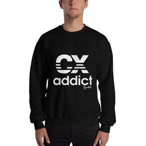 CX Addict White Print Sweatshirt