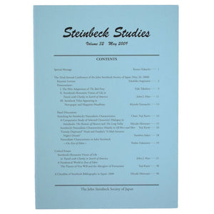 Steinbeck Studies. Volume 32, May 2009.